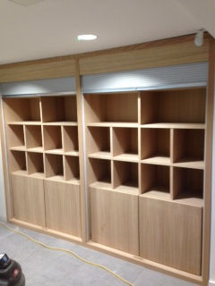 Storage wall unit with Tambour doors at Ambleside Uni