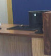 PM+M Accountants Greenbank Blackburn. Oak and Walnut counter with Disabled access